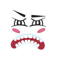 fury emoji emoticon or smiley face vector image vector image