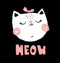grunge cat vector image