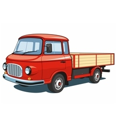 Red small truck vector image