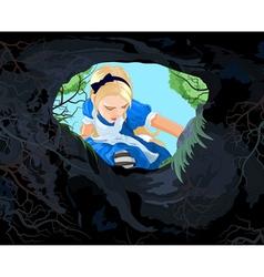 Wonderland Alice vector image vector image