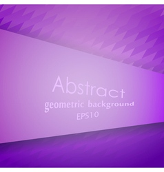 Abstract violet geometric pattern vector