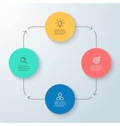 Business infographics Minimalistic diagram chart vector image