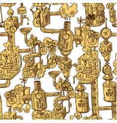 seamless pattern steampunk vector image