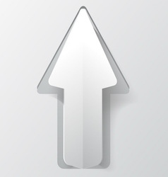 White paper arrow with shadow Background for your vector image vector image