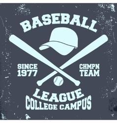 Baseball league stamp vector image