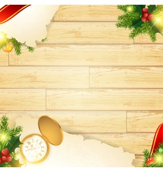 christmas vintage wooden background vector image