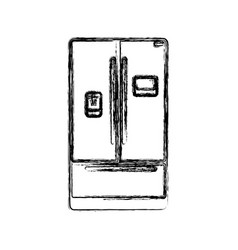 Fridge household appliances vector