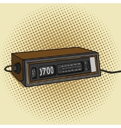 Alarm radio clock pop art style vector image