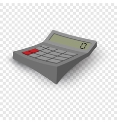 Calculator cartoon grey vector