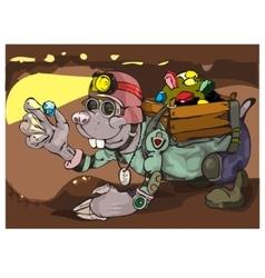 Cartoon Character Mole vector image vector image