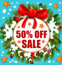 Christmas and new year holidays sale banner design vector