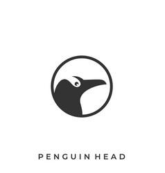 circle penguin template vector image