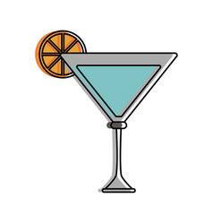 cocktail with lemon garnish icon image vector image