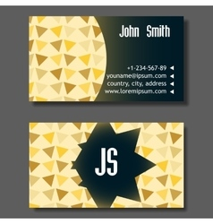 Creative Golden And Blue Business Visiting Card vector image