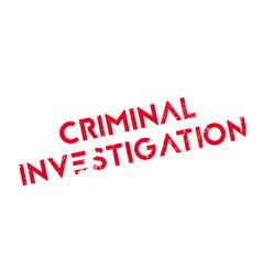 Criminal investigation rubber stamp vector