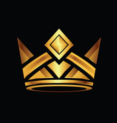 crown gold icon vector image