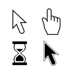 cursor set vector image