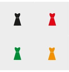 dresses set four vector image