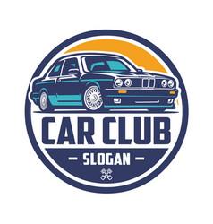 european car club logo isolated ready made logo vector image