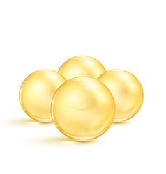 fish oil pills transparent capsules vector image