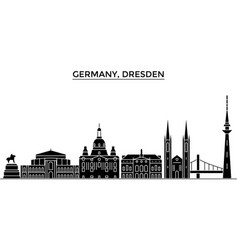 Germany dresden architecture city skyline vector