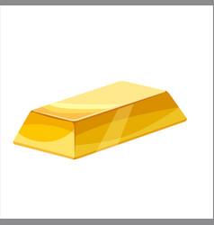 gold bar icon cartoon style vector image