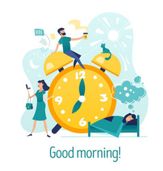 Good morning creative concept vector