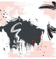 Grey pink grunge graphic design paint swatch vector