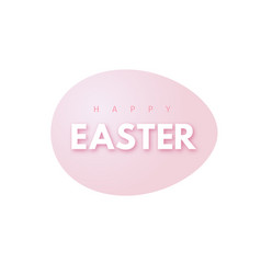happy easter holiday design with egg shape vector image
