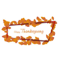 happy thanksgiving day background autumn falling vector image