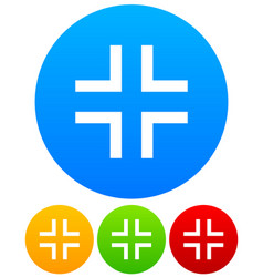 icons with simple angular crosshair reticle vector image