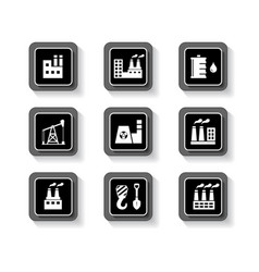 Industrial buttons set vector