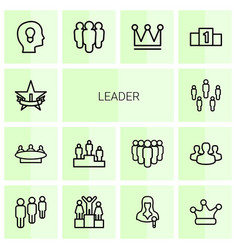 leader icons vector image