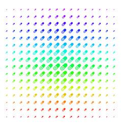 male power pill shape halftone spectrum grid vector image