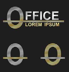 Metallic business font design - letter O vector