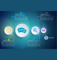 Modern communication steps background vector
