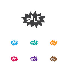 of trade symbol on sale label vector image