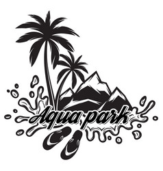 on theme tourism with palm vector image