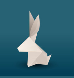 origami hare 3d vector image