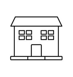 outline house windows door residence exterior vector image