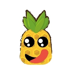Pineapple expressions hungry face vector