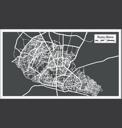 Porto novo benin city map in retro style outline vector