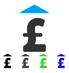 Pound up flat icon vector