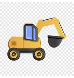 Quarry machine icon cartoon style vector