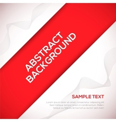 Red 3D background vector