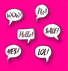 retro comic speech bubbles set vector image