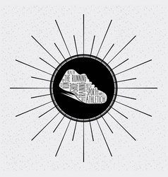 runner shoes design vector image