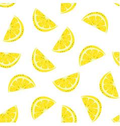Seamless pattern lemon isolated on white vector