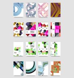 Set of a4 minimal geometric print templates vector