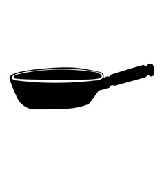 silhouette frying pan vector image
